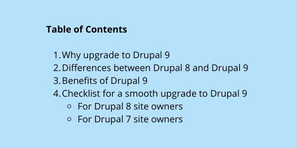 Drupal 9 Readiness Checklist