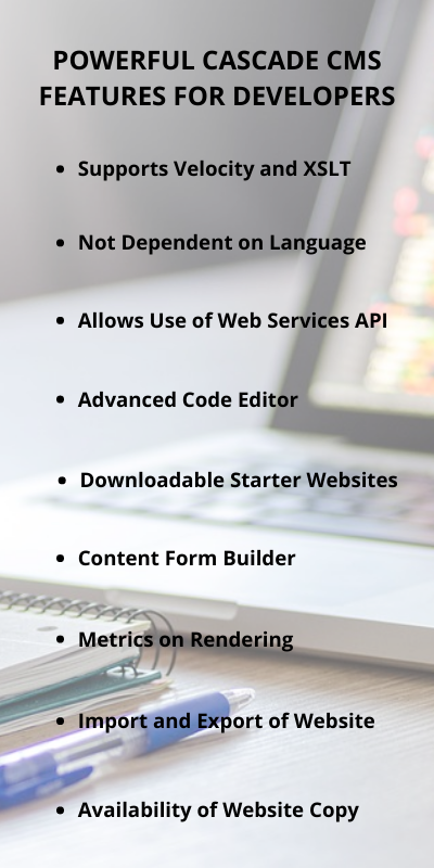 Cascade CMS Features for Developers